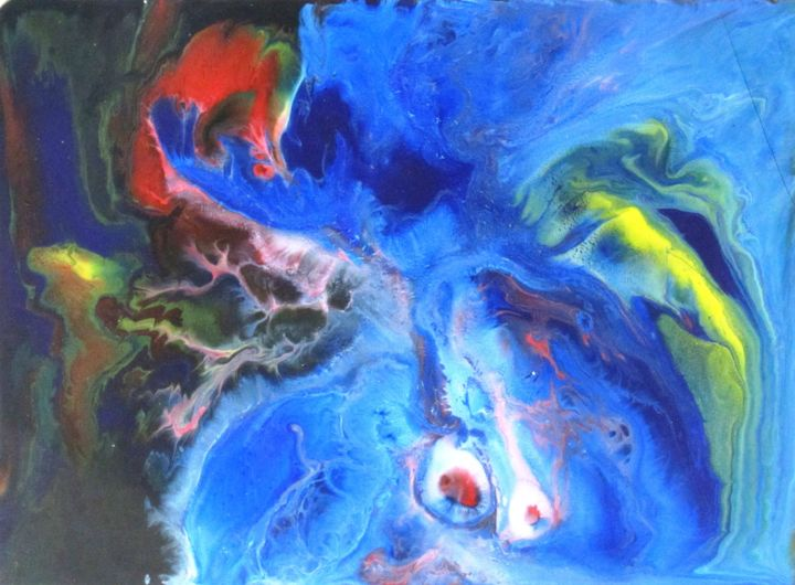 """Painting titled """"Abstract No. 126"""" by Shahriar Aghakhani, Original Art, Acrylic"""