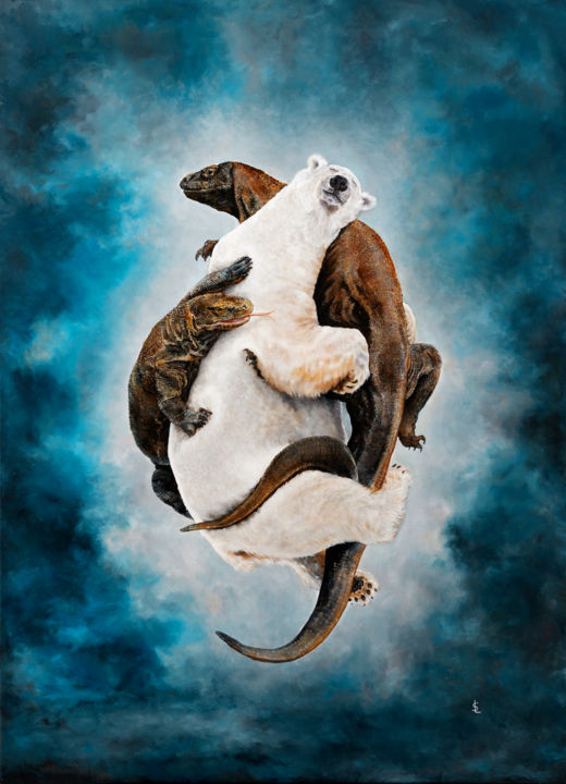 Animal Painting, oil, surrealism, artwork by Sailev