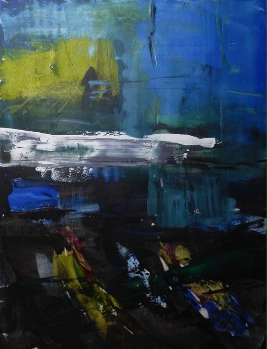 Senza titolo - Painting,  63x47.2x1.6 in, ©2016 by Alberto Saka -