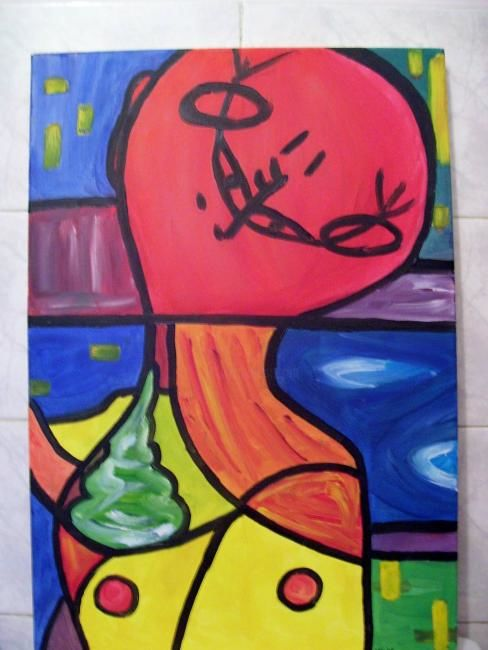 """Painting titled """"A French Dude"""" by Achille Gieris, Original Art, Oil"""