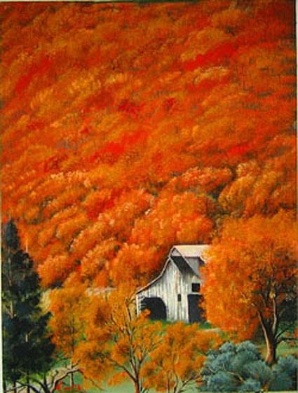 """Painting titled """"COBDEN IN THE FALL"""" by Thomas Peterson, Original Art, Oil"""