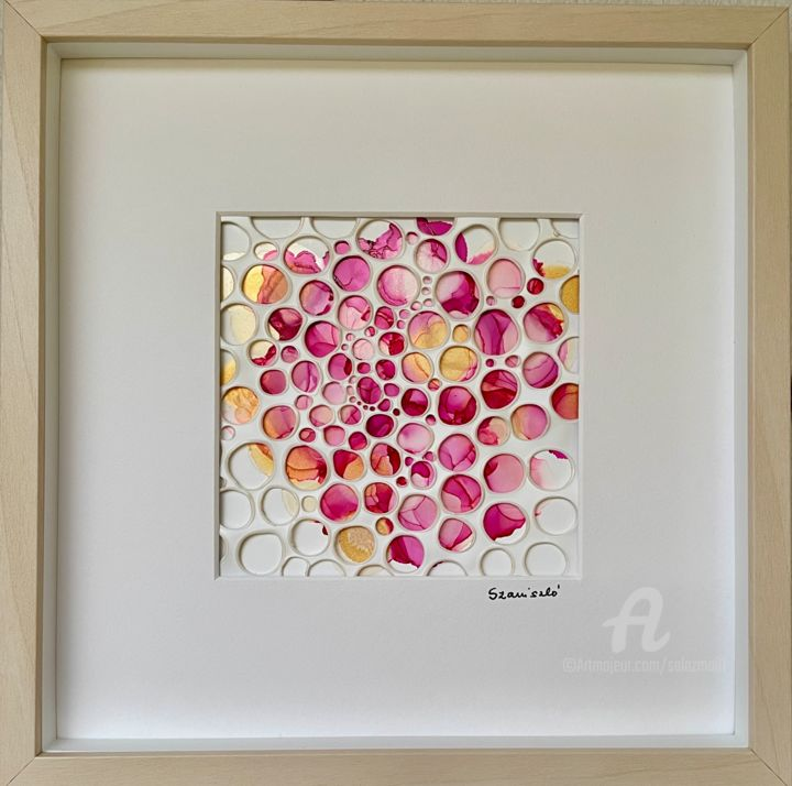 """Painting titled """"Roses"""" by Salaz, Original Art, Ink"""