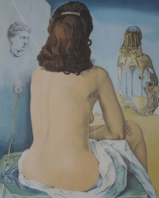 Painting, artwork by Salvador Dali