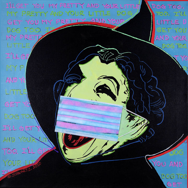 """Painting titled """"WICKED WITCH 19"""" by Sam Schwartz, Original Art, Acrylic"""