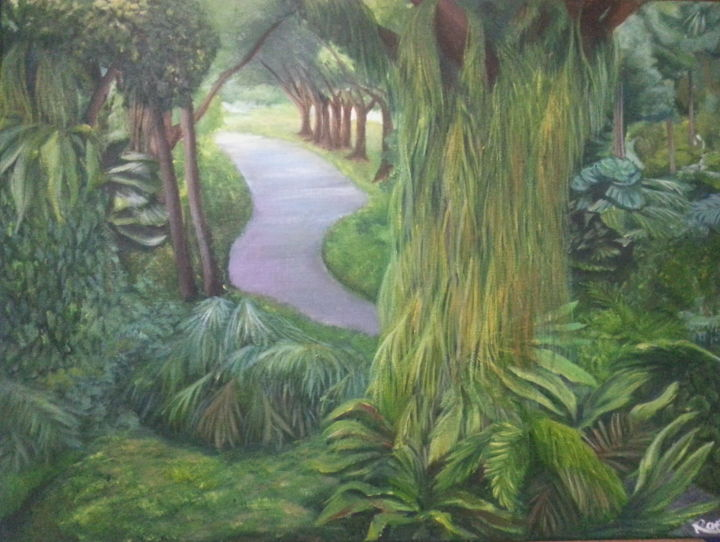 """Painting titled """"Beautiful Afternoon…"""" by Samantha Choo, Original Art, Oil"""