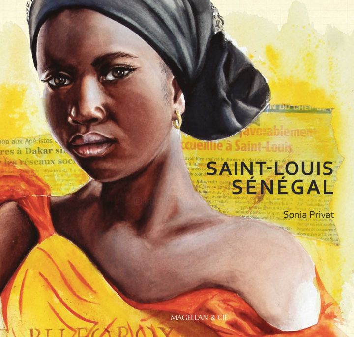 Livre: Saint-Louis, Sénégal. Sonia Privat - Painting,  9.1x9.1 in ©2018 by Sonia Privat -
