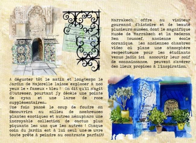 "Stage ""7 jours à Marrakech"" - Painting ©2012 by Sonia Privat -"