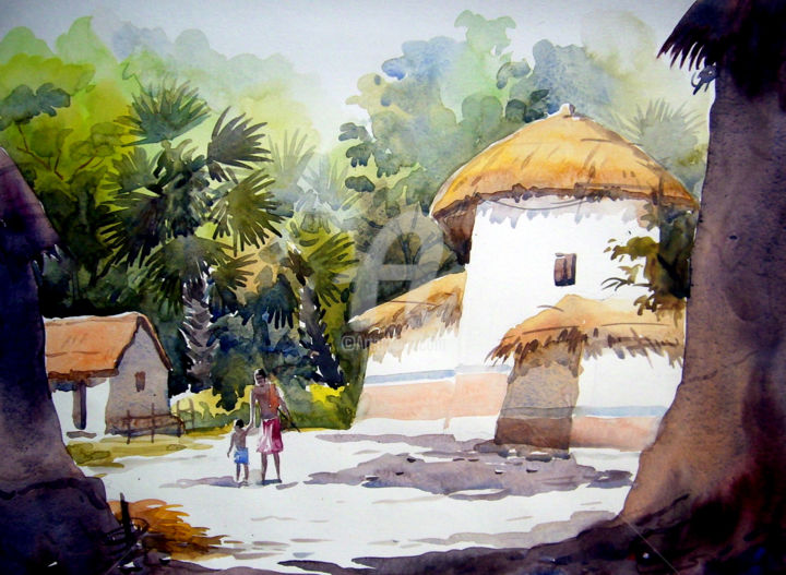 Best Village Scenery Paintings