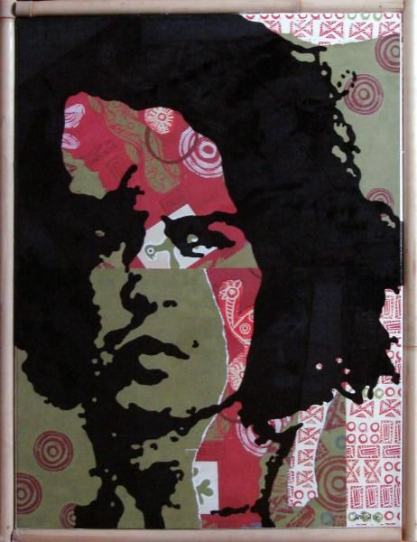 """Collages titled """"Johnny"""" by Samitha Hess, Original Art, Other"""