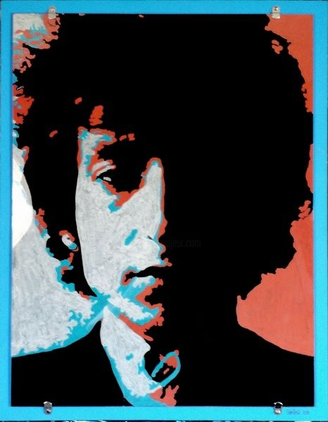 """Collages titled """"Dylan"""" by Samitha Hess, Original Art, Other"""