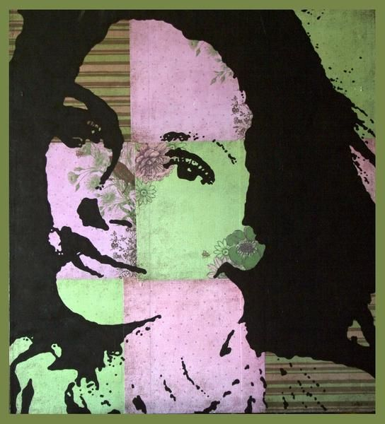 """Collages titled """"Julia"""" by Samitha Hess, Original Art, Other"""