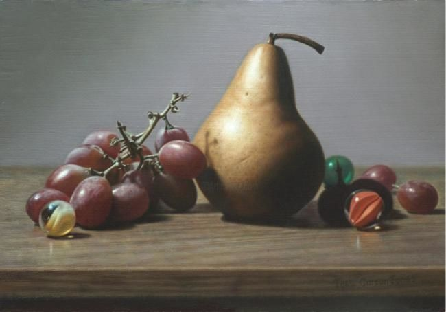 """Painting titled """"Grapes And Marbles"""" by Joel Jones, Original Art,"""
