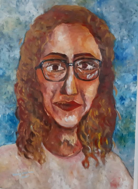 """Painting titled """"Experience a look"""" by Sanaz Gholami, Original Art, Acrylic"""