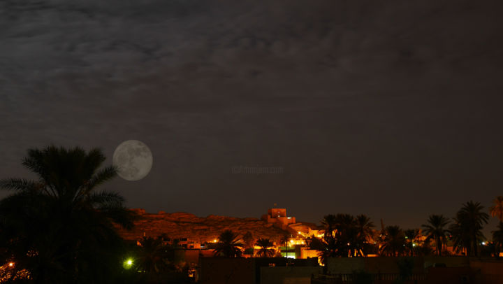 Laghouat under the Moon - Photography ©2016 by Mousta Sand Art -