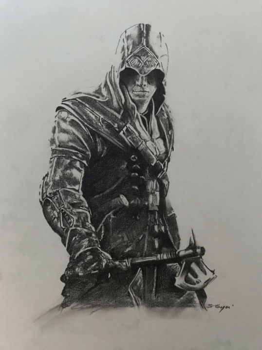 Assassin S Creed Drawing By Sandrine Royer Artmajeur