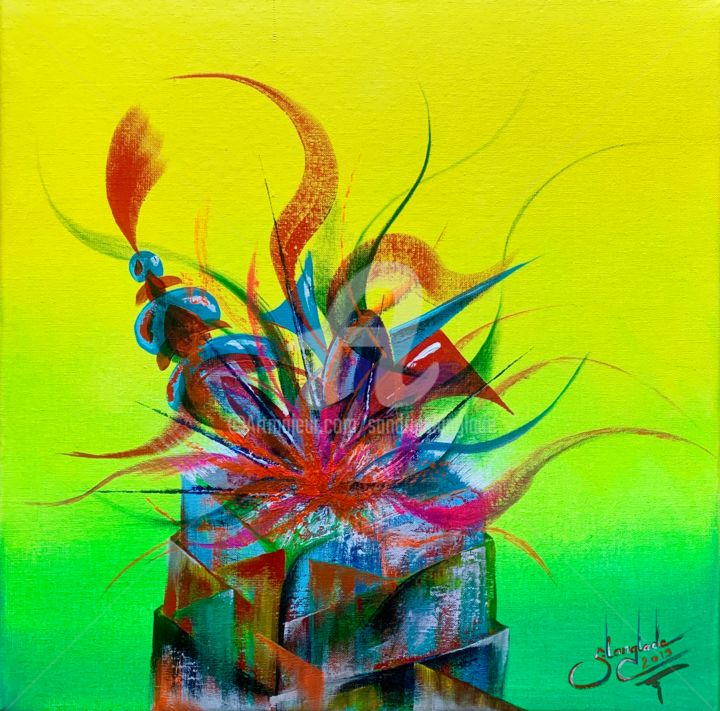 """Painting titled """"Expanding Love"""" by Sandrine Langlade, Original Art, Acrylic Mounted on Stretcher frame"""