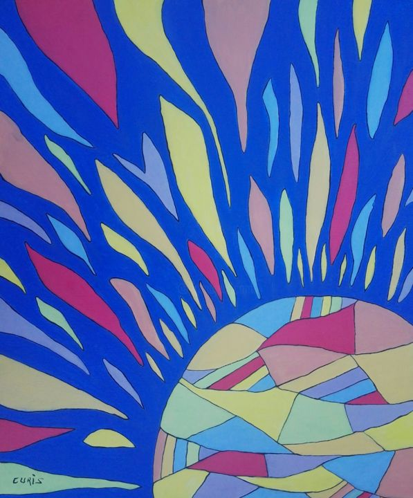"""Painting titled """"Vibrant sun"""" by The_edge_of_chaos, Original Art, Acrylic"""