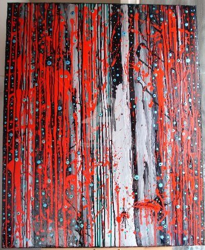 Grumbling Earth....... - Peinture,  39,4x31,5 in, ©2009 par Sarahoui -                                                                                                                                                                                                                                                                                                                                                                                                          Abstract, abstract-570, Art abstrait, Grumbling, Sarahoui, Earth, Abstract art., Art abstrait