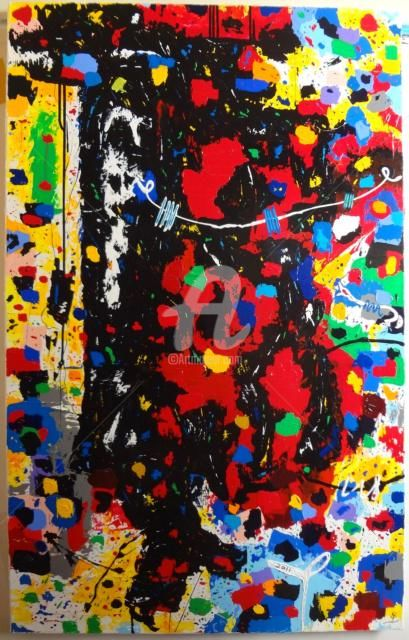 Painting,  73 x 116 cm ©2011 by Sarahoui -  Painting, Abstract Painting