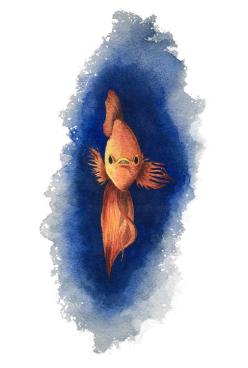 poisson.jpg - © 2018 poisson, fish, animal, animaux, aquarelle, watercolor Online Artworks