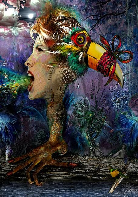 SHUT UP AT NIGHT - Digital Arts,  81x116 cm ©2008 by Pal Sarkozy Werner Hornung -            Digital Fine Art