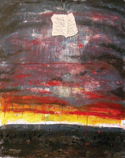 War under commendments - Painting,  60.2x48x0.4 in, ©2006 by Yanick Sasseville -