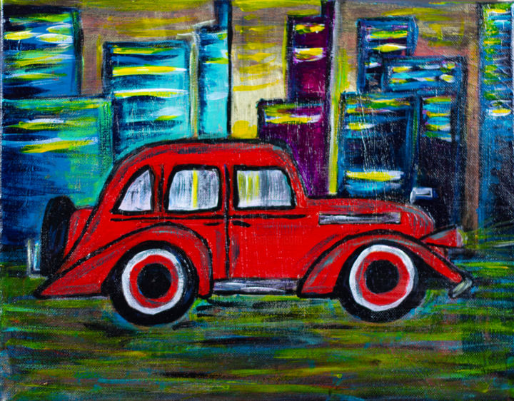 Abstract Car Painting Art