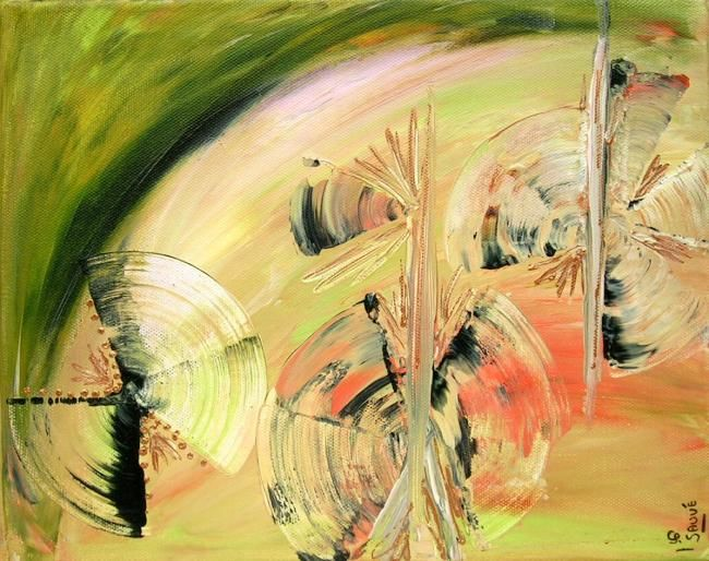 Eolia... - Painting,  9.5x11.8 in, ©2007 by Sylvie Sauvé -