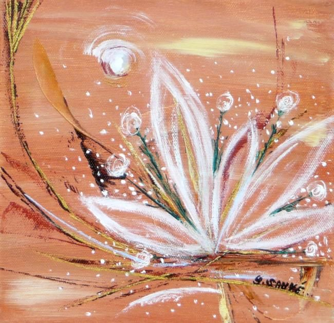 Voyage d'une Bulle... - Painting,  7.9x7.9 in, ©2007 by Sylvie Sauvé -