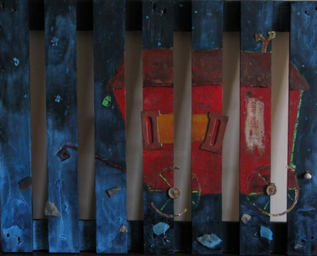 ma roulotte - Painting ©2008 by stef b -