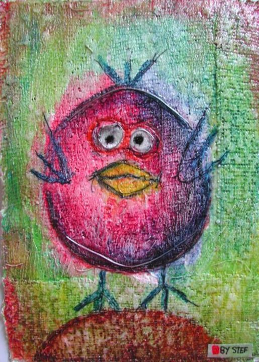 cocotte - Painting,  15x10 cm ©2005 by stef b -