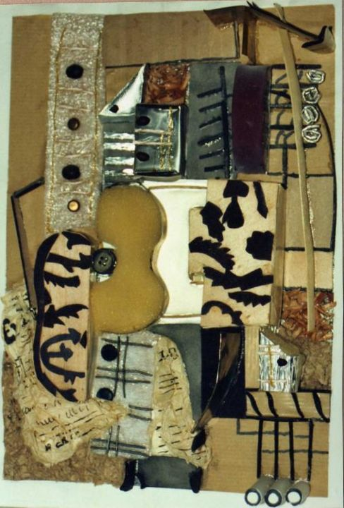 la guitare - Painting,  30x21 cm ©1995 by stef b -