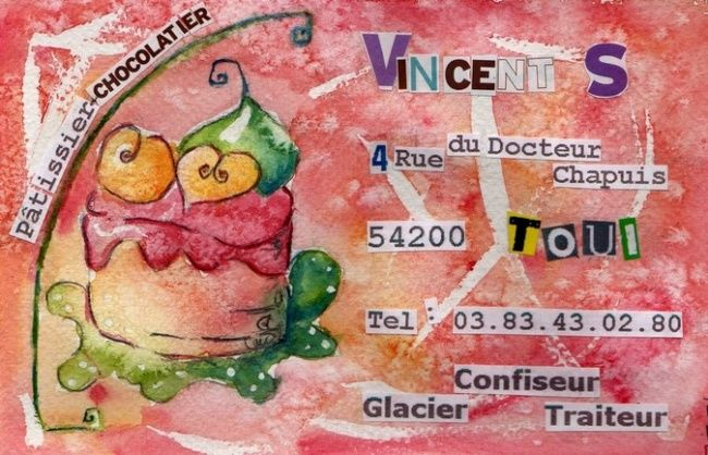 carton 1 patisserie chocolaterie - Drawing ©2008 by stef b -