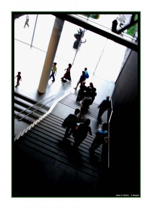 """Photography titled """"Stairs at MoMA"""" by Sboisjoli, Original Art,"""