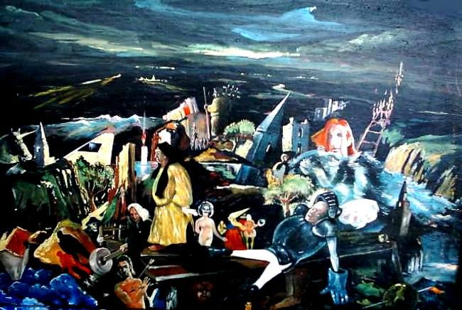 All Rights Reserved Painting,  800x400 cm ©1995 by Schljachow -  Painting, Oil