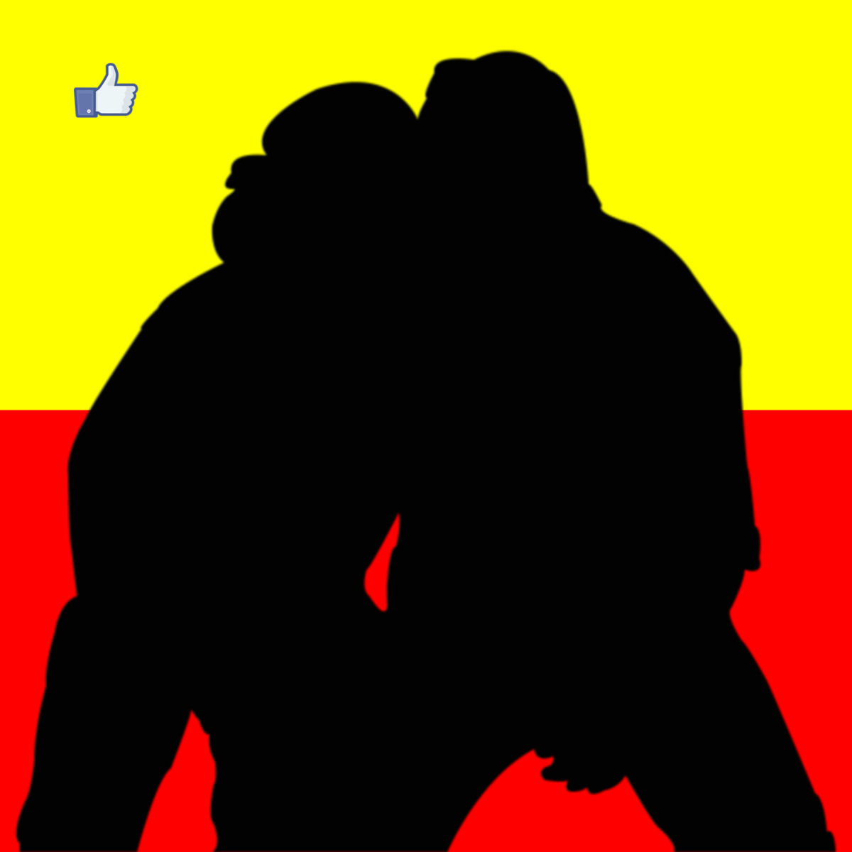 The kiss.jpg - ©  photo, Adobe Photoshop, illustration, Facebook Dzieła online
