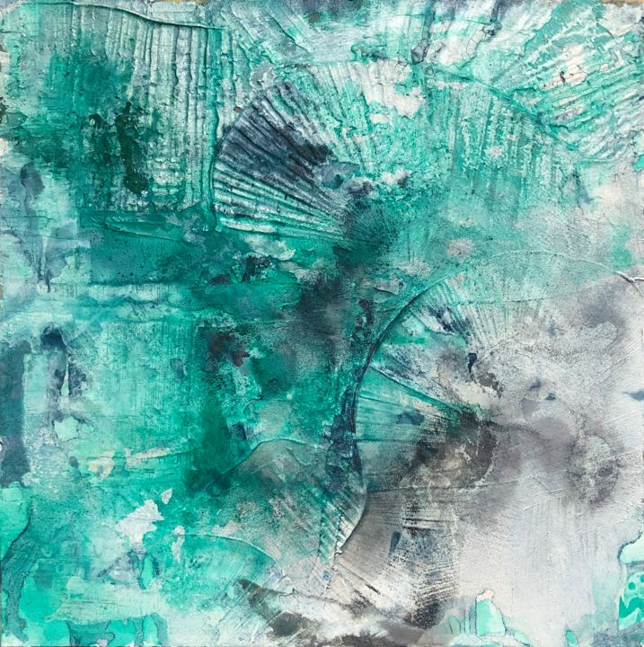 """Painting titled """"Ammonoidea"""" by Andreas Angleitner, Original Art, Ink"""