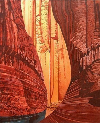 """Painting titled """"West Canyon"""" by Scott Geary, Original Art,"""