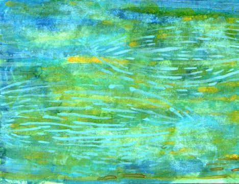"""Painting titled """"Almost serpents,aqu…"""" by Sea-Scape, Original Art, Oil"""