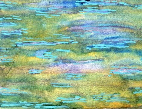 """Painting titled """"Backwater,aquarell…"""" by Sea-Scape, Original Art, Oil"""