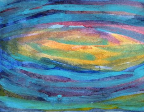"""Painting titled """"Eyes of watery blue…"""" by Sea-Scape, Original Art, Oil"""