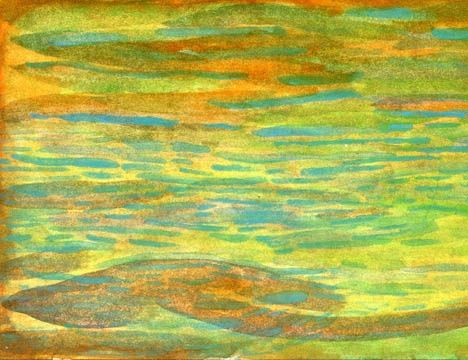 """Painting titled """"Floating Seagrass,a…"""" by Sea-Scape, Original Art, Oil"""