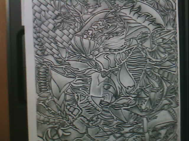 """Drawing titled """"Confusion"""" by Sean Miskell, Original Art,"""