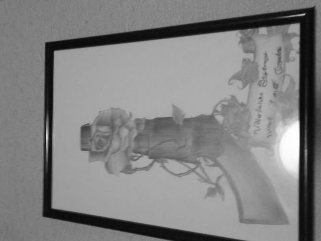 """Drawing titled """"Violencedestroys wh…"""" by Sean Miskell, Original Art,"""