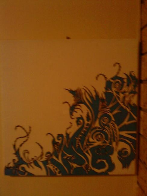 """Drawing titled """"Tribal wave"""" by Sean Miskell, Original Art,"""