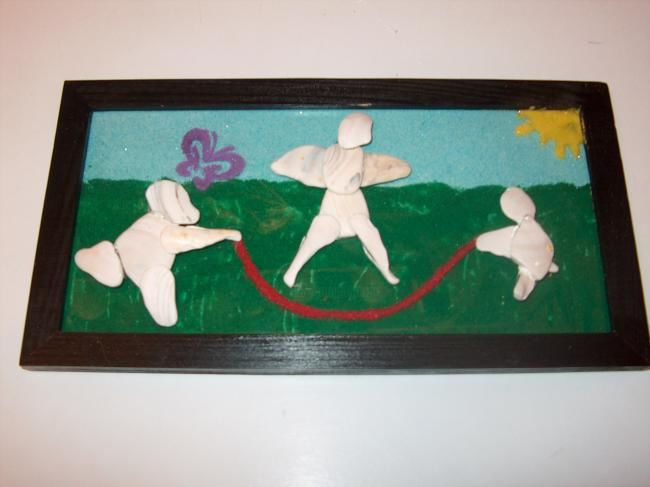 """Collages titled """"Fun at the Park"""" by Niffer, Original Art,"""