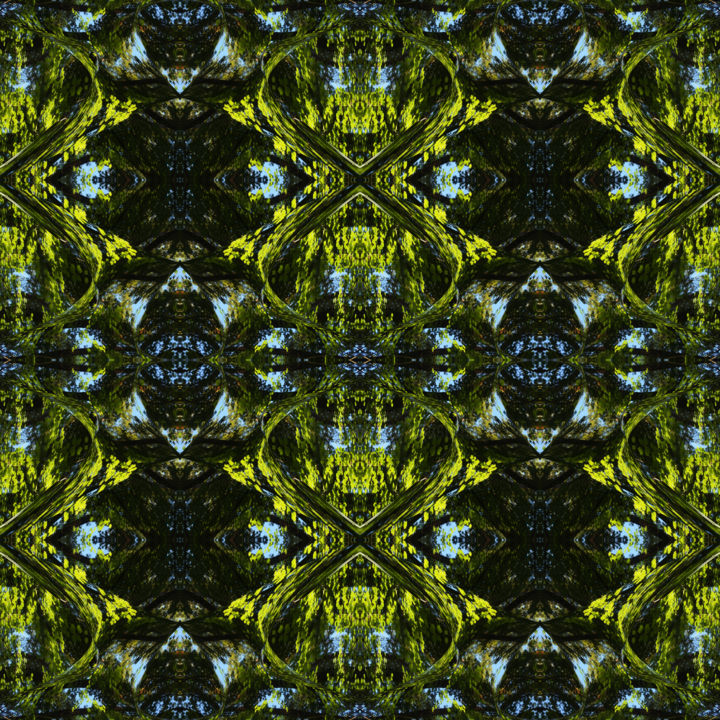 Forest Abstract 25 - © 2018 digital abstract, modern, contemporary, series, abstract landscape, color image, square, symmetry, symmetrical, geometry, forest, kaliedoscopic Online Artworks