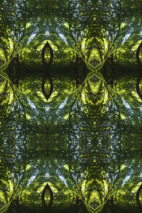 Forest Abstract 34 - © 2018 digital abstracts, series, modern abstract, contemporary abstract, abstract landscape, symmetry, symmetrical, geometric, kaliedoscopic Online Artworks