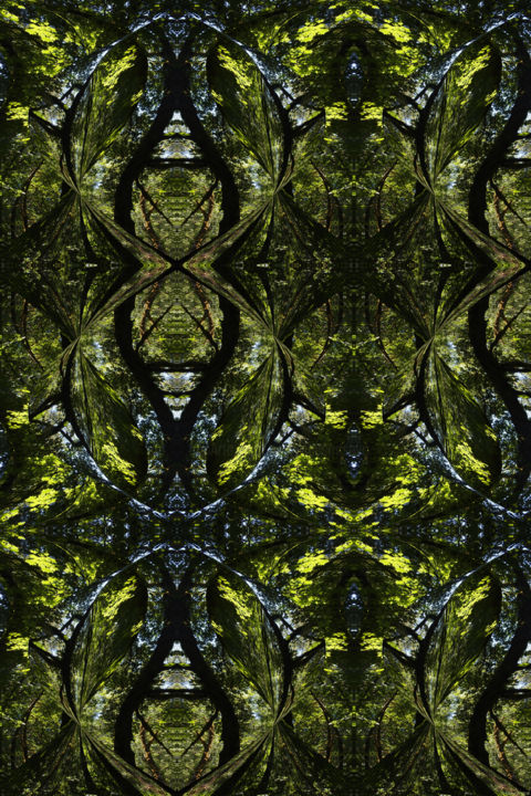 Forest Abstract 63 - Digital Arts, ©2019 by Kenneth Grzesik -                                                                                                                                                                                                                                                                                                                                                                                                                                                                                                                                                                                                                                                                                                                                                                                                                                                                                                                                                                                                                                                                                                                                          Abstract, abstract-570, Abstract Art, Geometric, Nature, Patterns, Tree, digital abstract, modern art, contemporary art, symmetrical art, symmetry, kaleidoscopic art, geometric art, green, environment, ambient, series, abstract landscape, experimental art, improvisional art, color image, geometry, organic