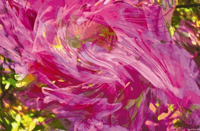 Rhythms of Spring #46 - Digital Arts, ©2010 by Kenneth Grzesik -                                                              A visual breeze that sways in a flow spectral undulations.